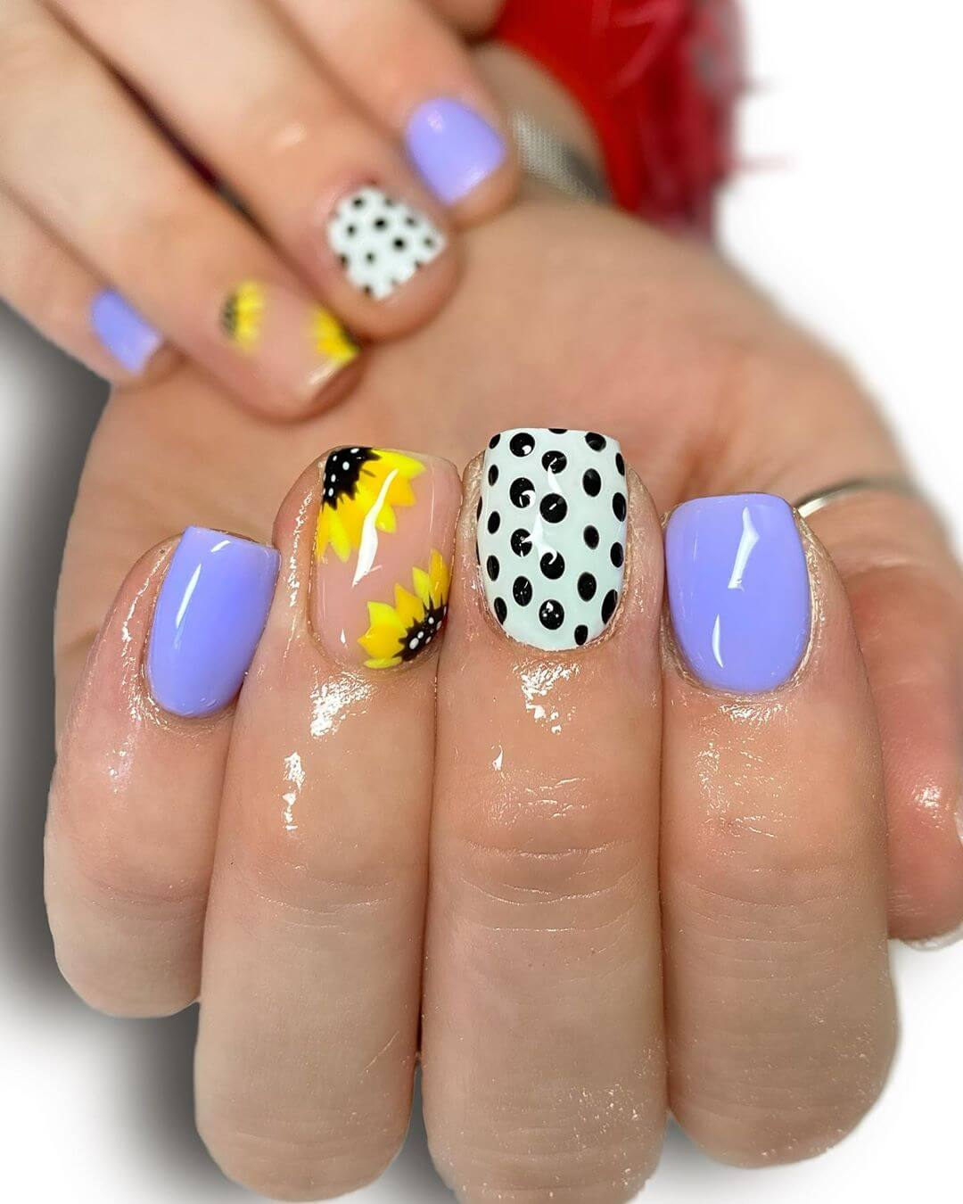 The Purple Hues Polka Dot Nail Designs