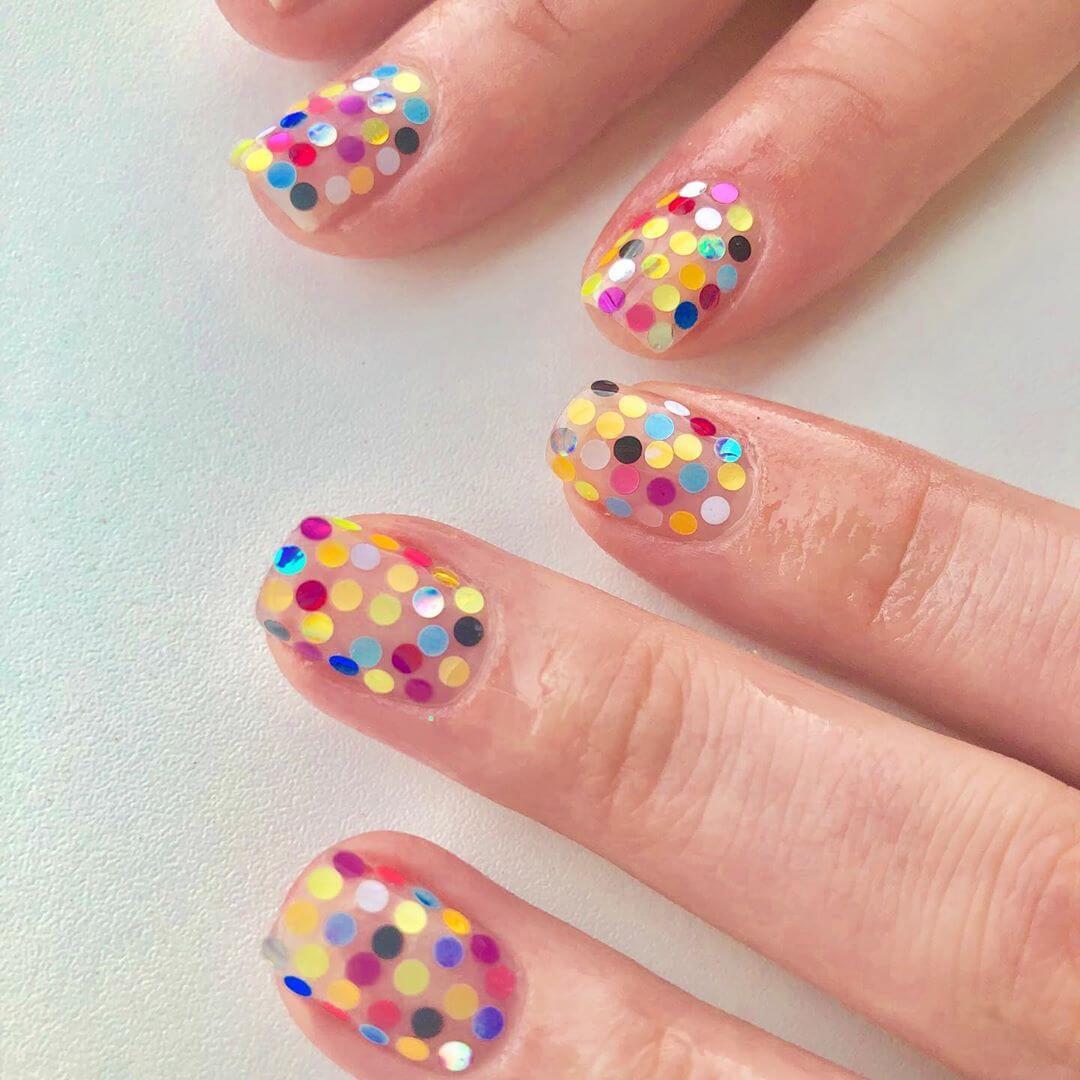 Colors all around Polka Dot Nail Designs
