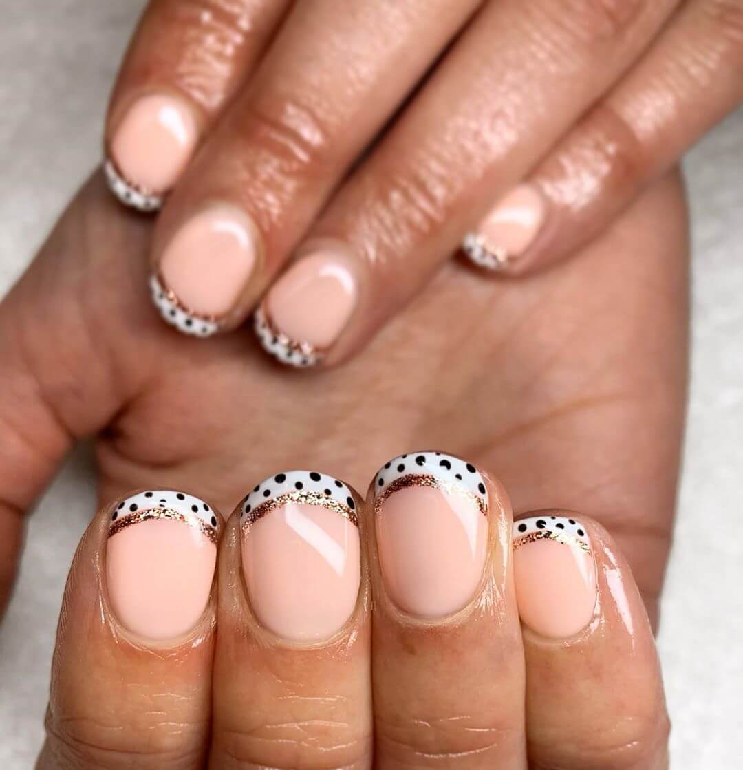 French Manicures Polka Dot Nail Designs