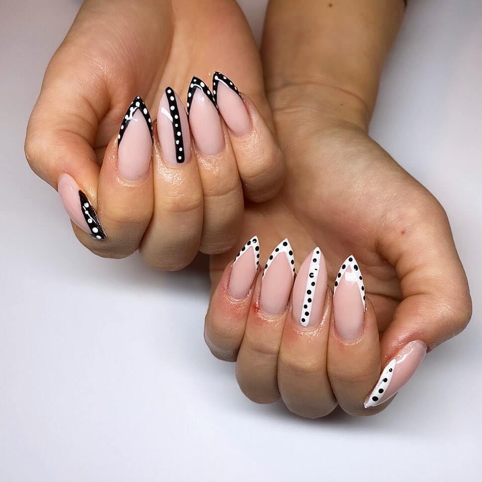 Just the tips Polka Dot Nail Design
