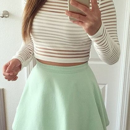 White Striped Sheer top with a tube inner