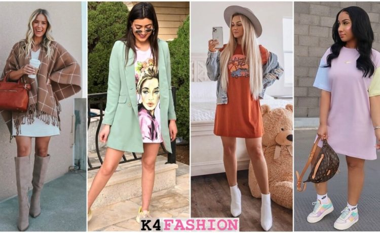 Simple Ways To Wear A t-Shirt Dress - Outfits & Ideas