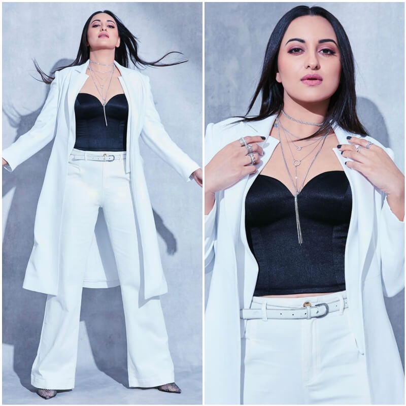 Style the long coat like Sonakshi Sinha