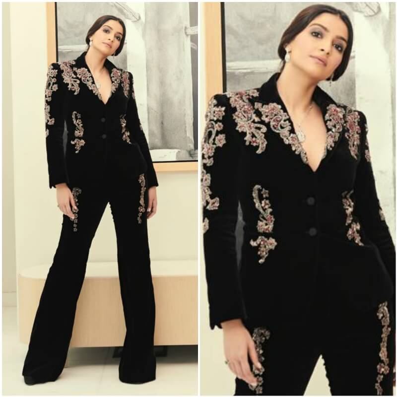 Rock the embroidered pant suit like Sonam Kapoor