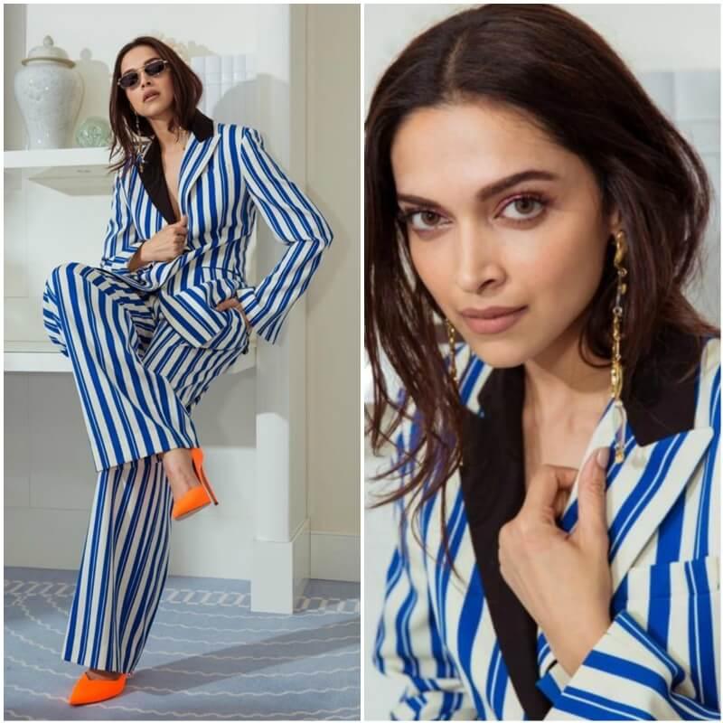 Learn to style the stripes like Deepika Padukone