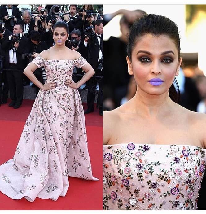 When Aishwarya's Purple Lipstick Became The Talk Of The Town Cannes Looks By Indian Divas