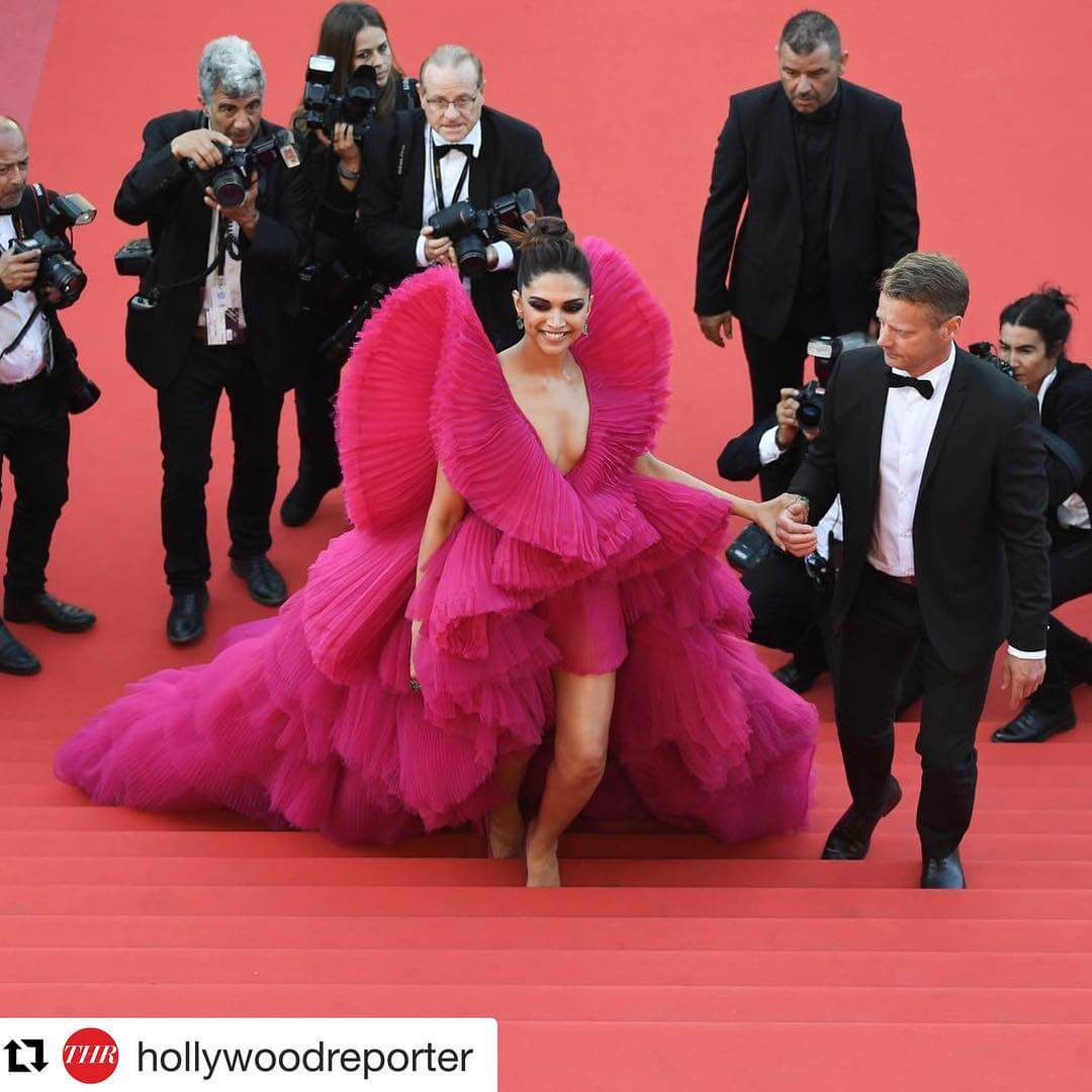 When Deepika Dressed Like A Hot Pink Butterfly Cannes Looks By Indian Divas