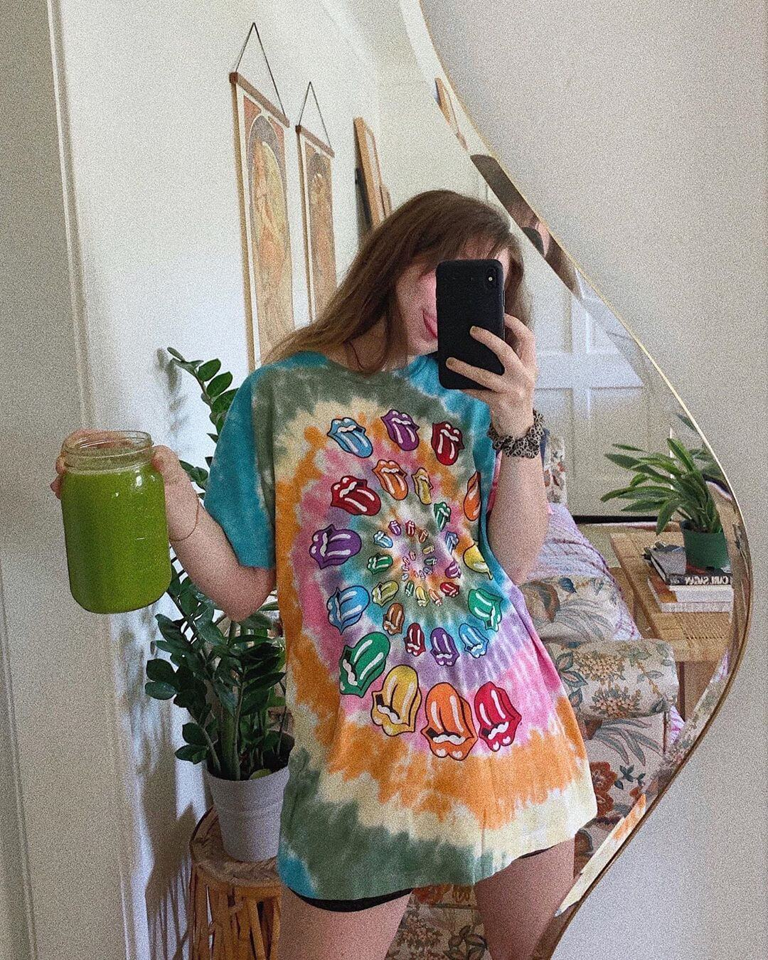 Tie dye T-shirt and T-shirt Dress for this Summer