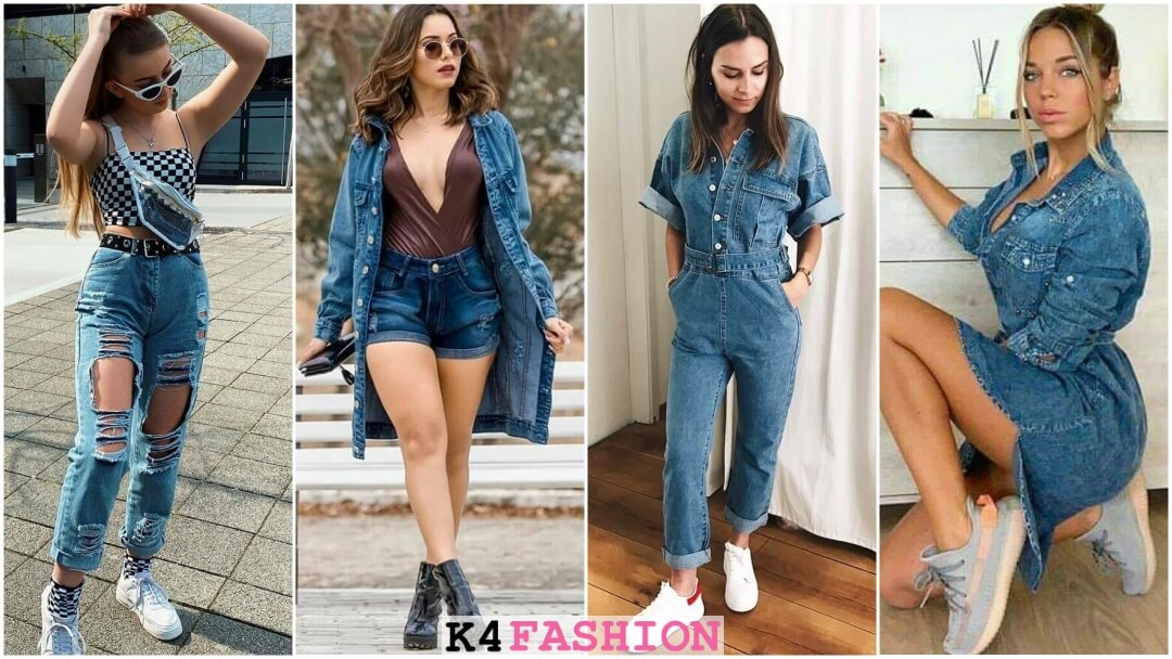 Trending Denim Jeans Outfits for women
