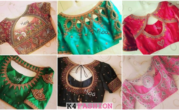 Bridal Maggam Work Blouse Designs For Sarees K4 Fashion