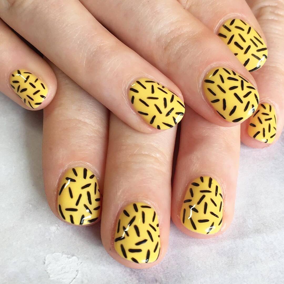 Ibiza Nails Yellow Nail Art Design