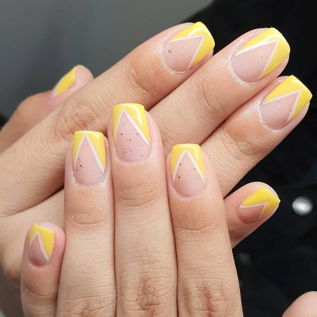 Bright Nails Yellow Nail Art Design