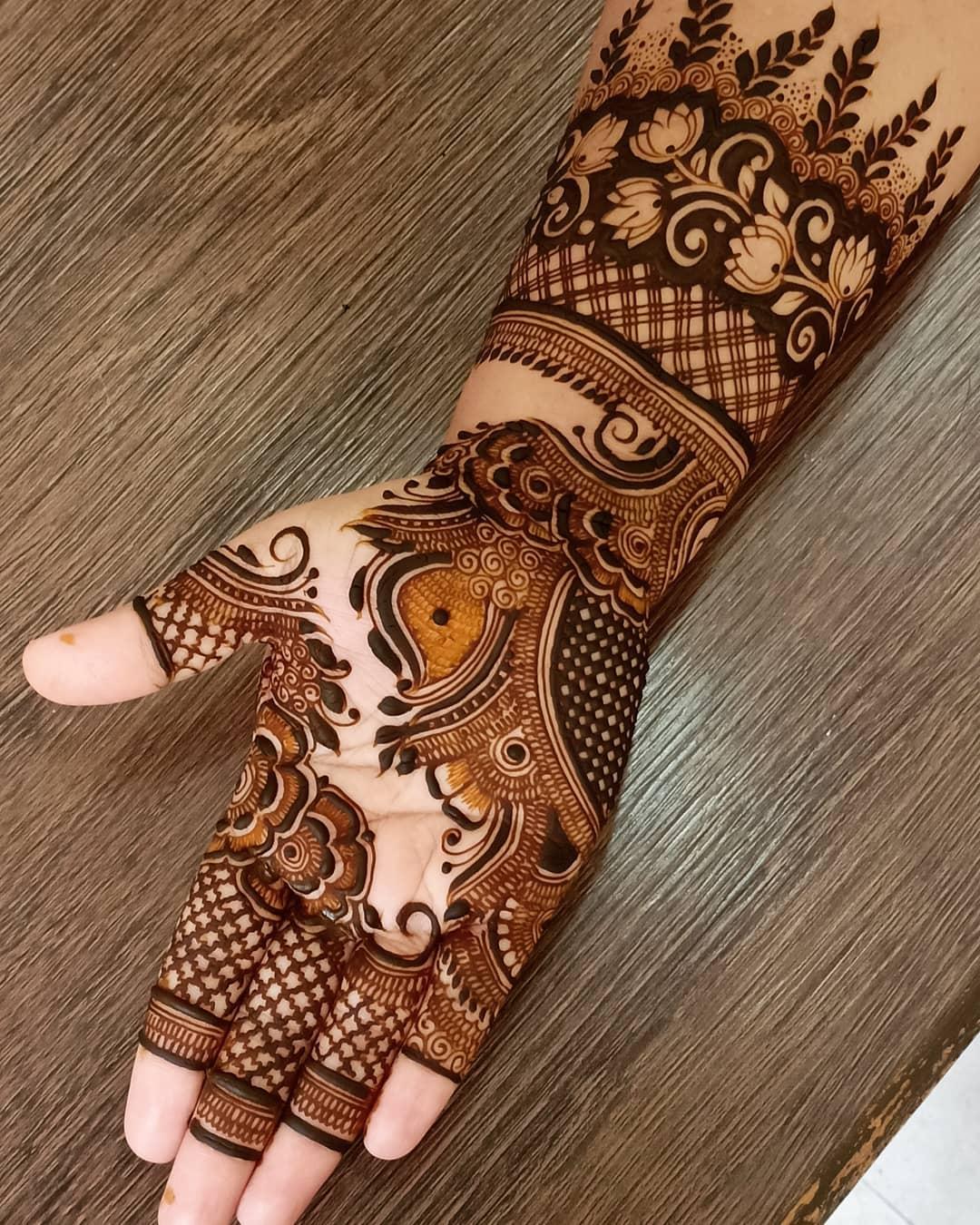 Arabic Lotus Design Full Hand Arabic Mehndi Designs For Full Hand
