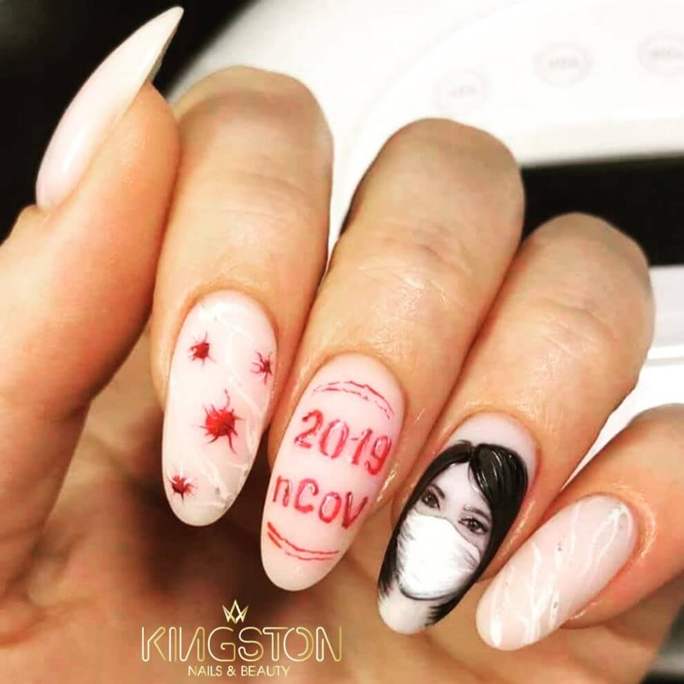 Memorable Nails Coronavirus-themed nail art designs