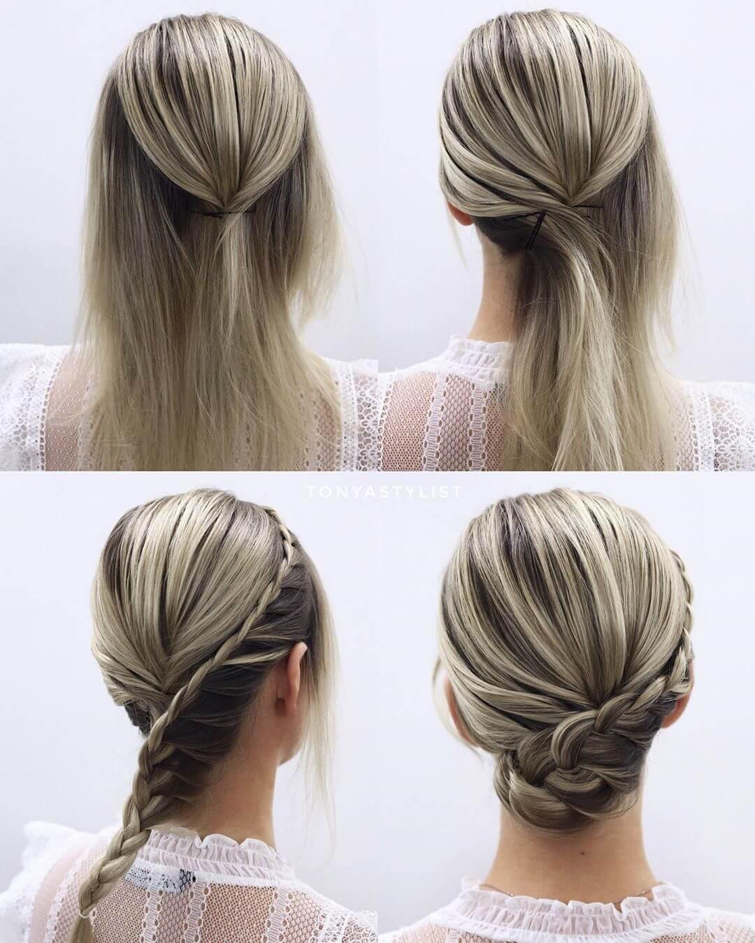 Step by Step Braid breach Hairstyles for Long, Medium, Short Hair