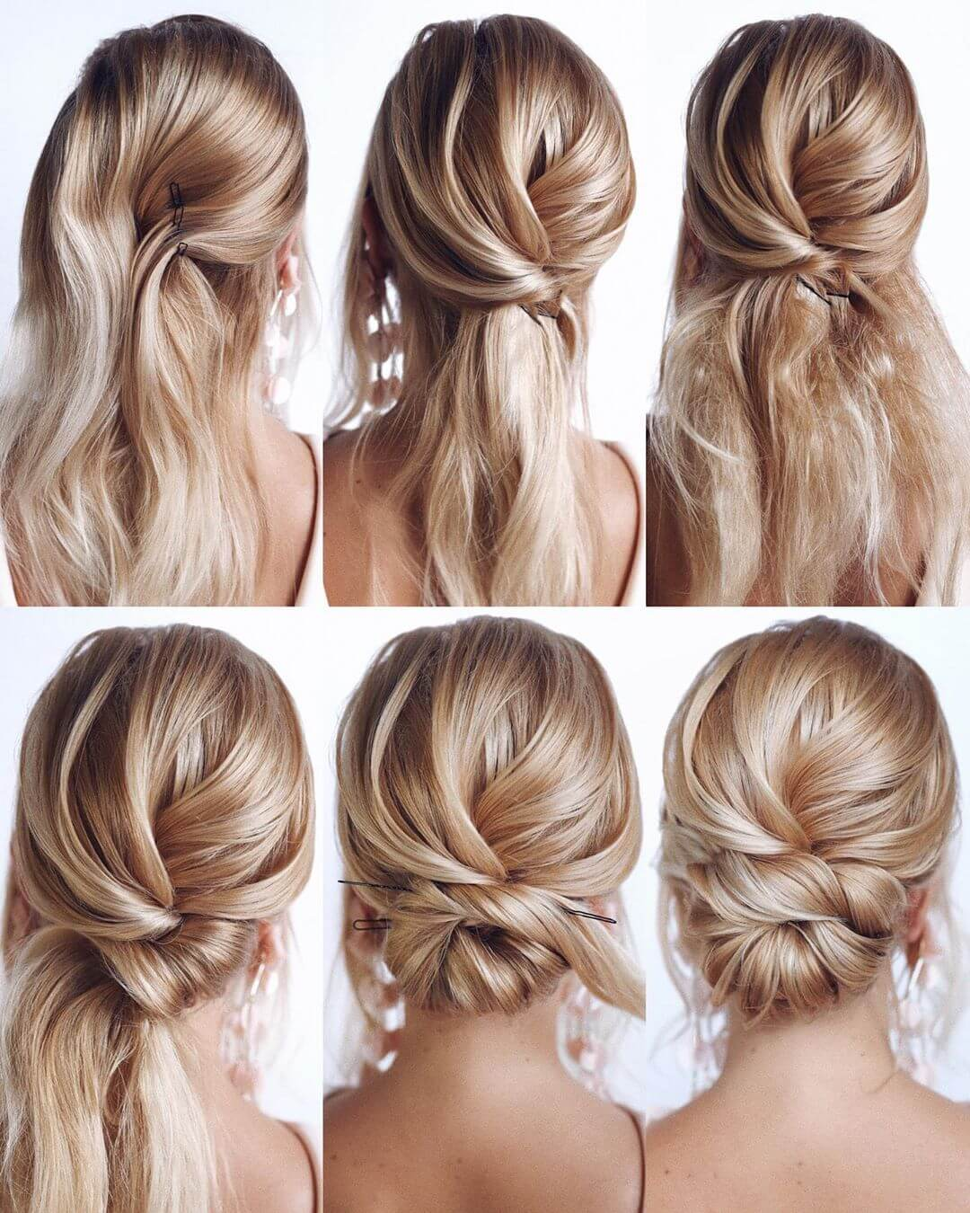 Step by Step Curly messy bun Hairstyles for Long, Medium, Short Hair