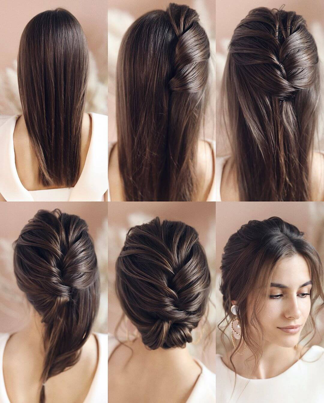 Step by Step Twist down in Hairstyles for Long, Medium, Short Hair