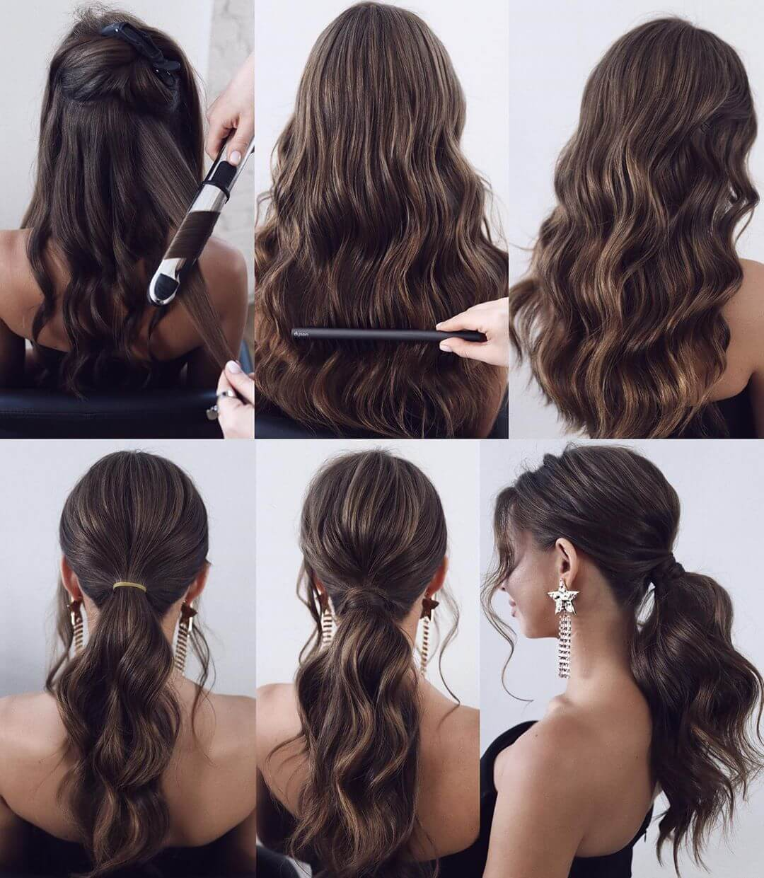 Step by Step Low pony tail Hairstyles for Long, Medium, Short Hair