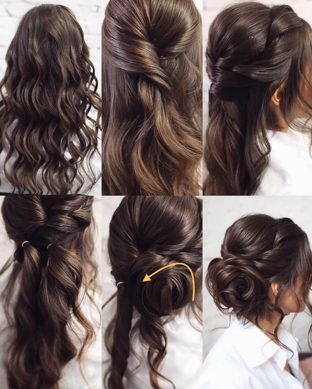 Step by Step Frezzy side bun Hairstyles for Long, Medium, Short Hair