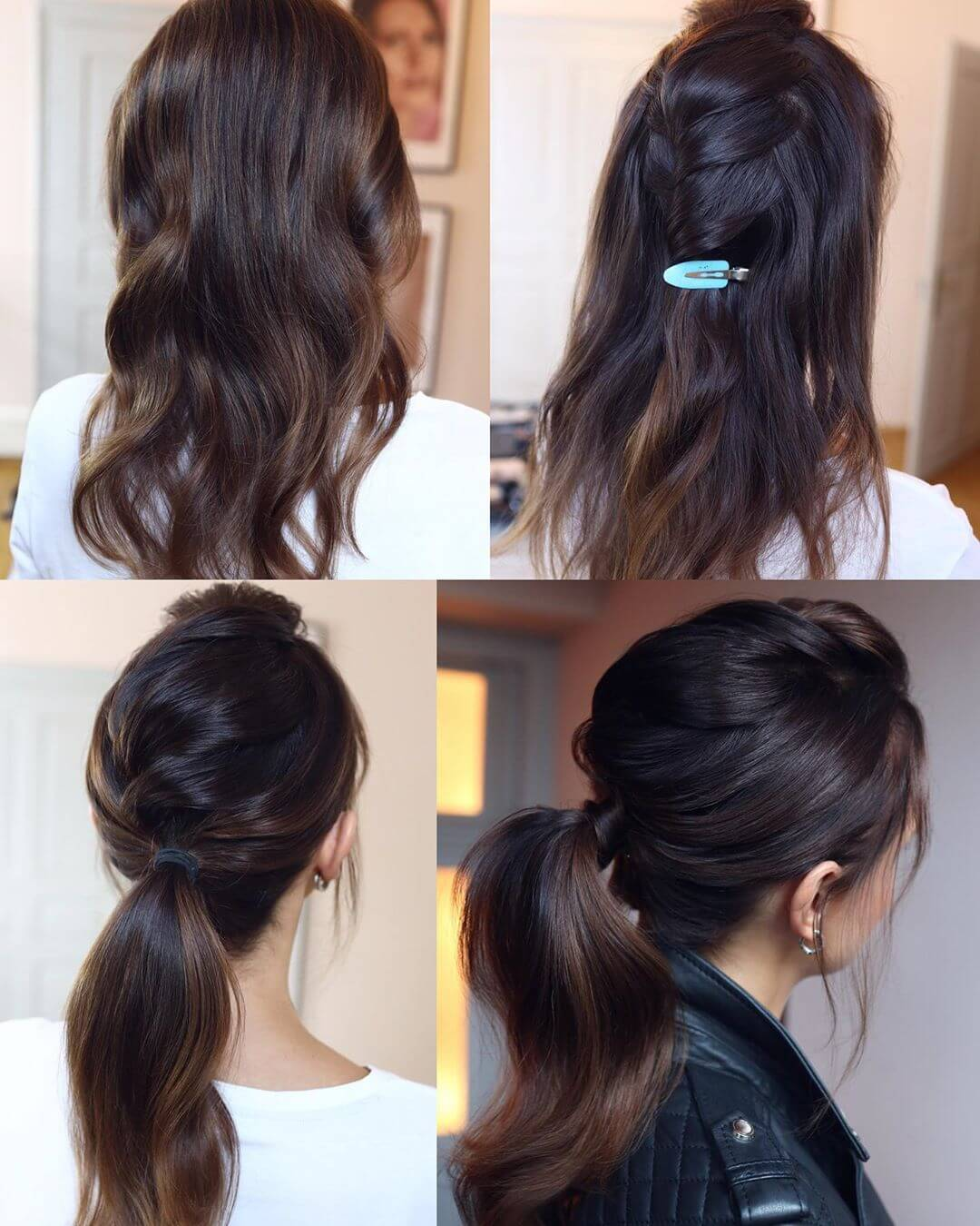Step by Step Rowdy pony tail Hairstyles for Long, Medium, Short Hair