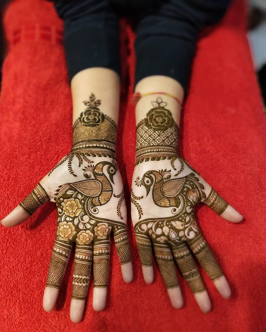 Prepossessing Engagement Mehndi Design For Palms