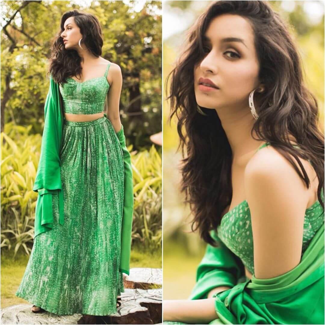Long skirt and short sleeveless top Ethnic wear for Rakshabandhan
