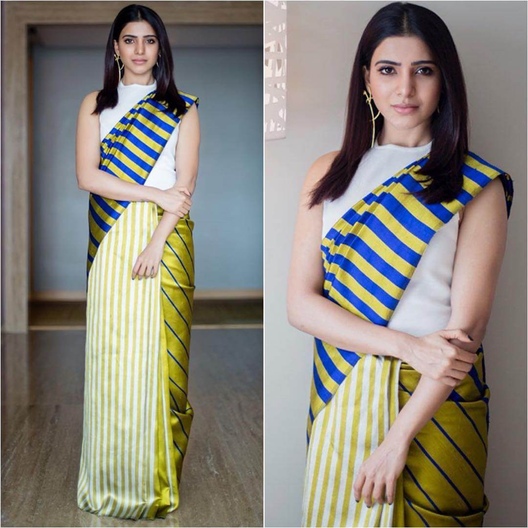 Simple formal saree Ethnic wear for Rakshabandhan