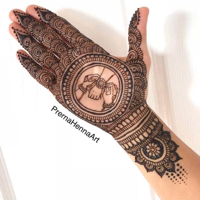 latest mehendi design for front hand