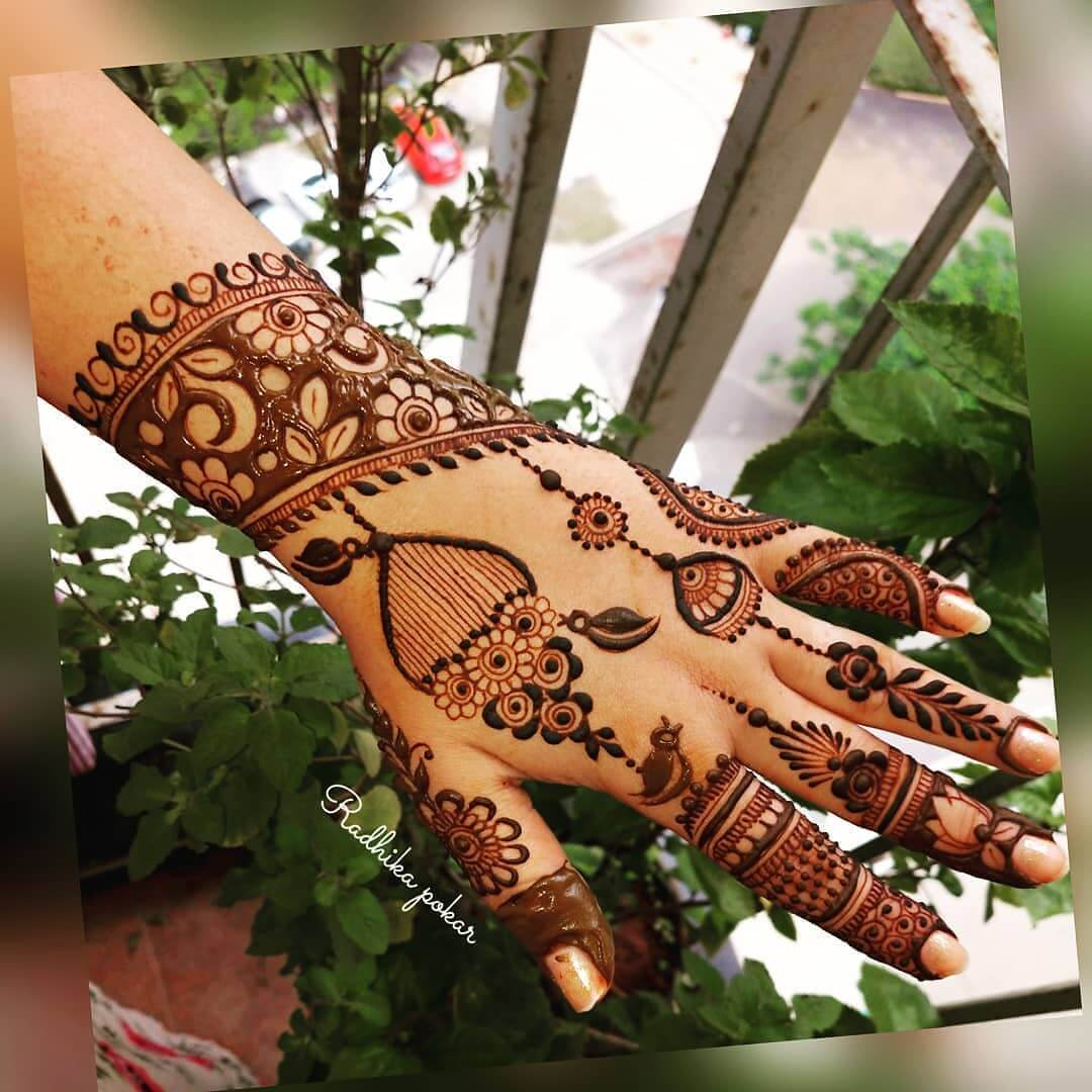 Ornamental Latest Mehndi Designs for Raksha Bandhan