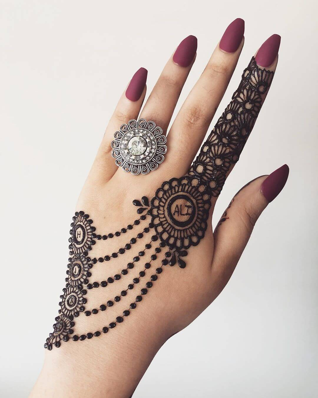 Floral Jewel Design Latest Mehndi Designs for Raksha Bandhan