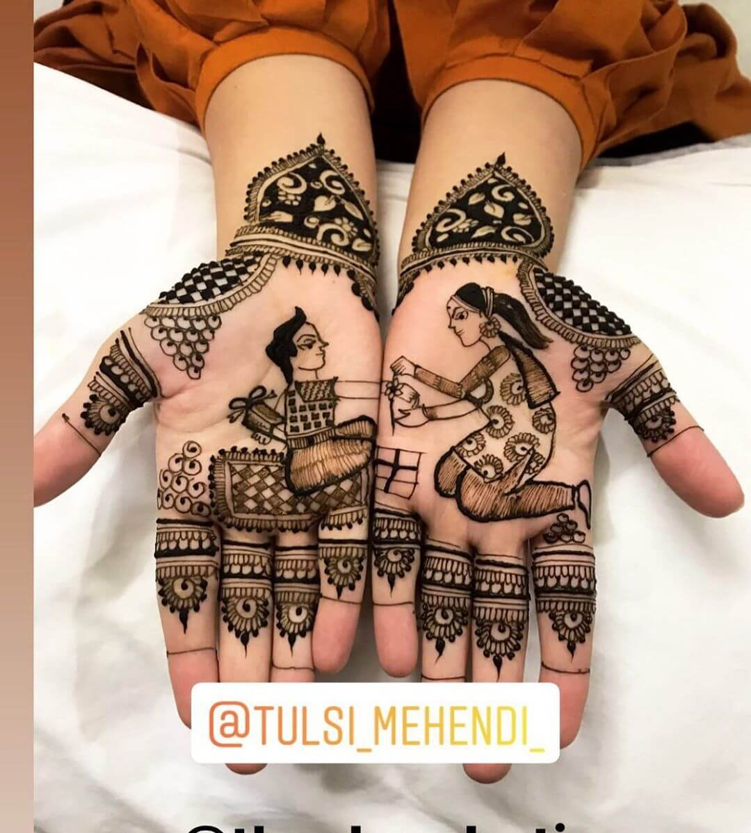Arabic latest Mehndi Designs for Raksha Bandhan