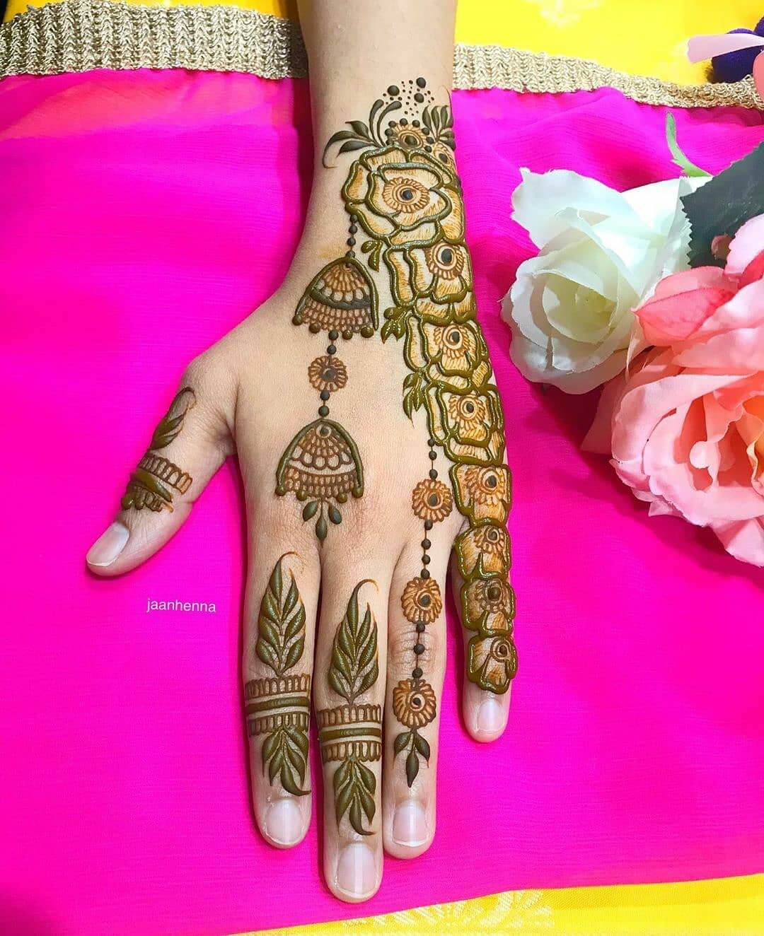 Jhumka Designs Latest Mehndi Designs for Raksha Bandhan