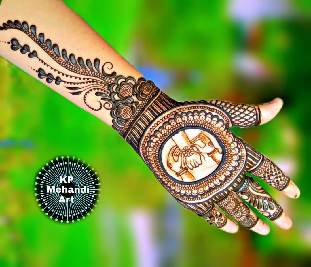 Dark Strokes Latest Mehndi Designs for Raksha Bandhan
