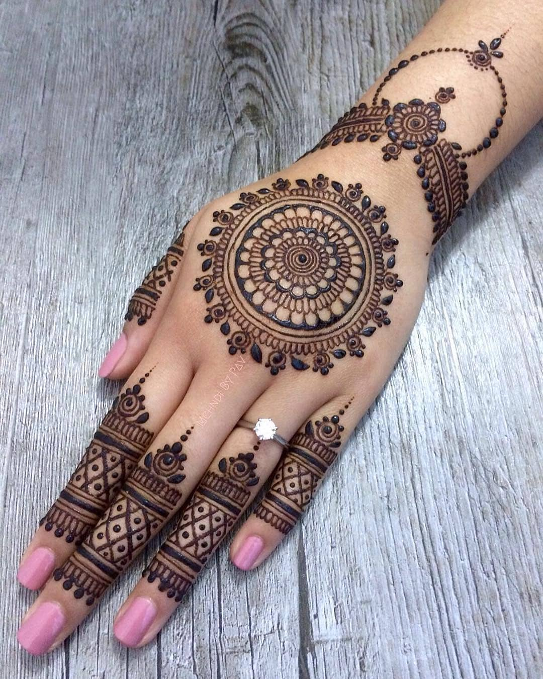 Back Hand Mandala Latest Mehndi Designs for Raksha Bandhan