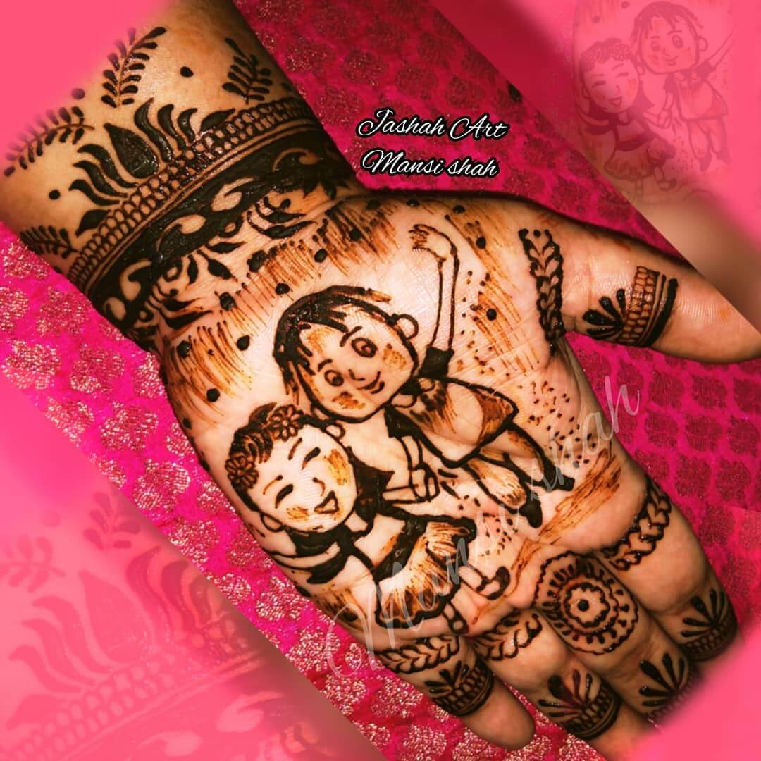 Reliving Childhood Latest Mehndi Designs for Raksha Bandhan