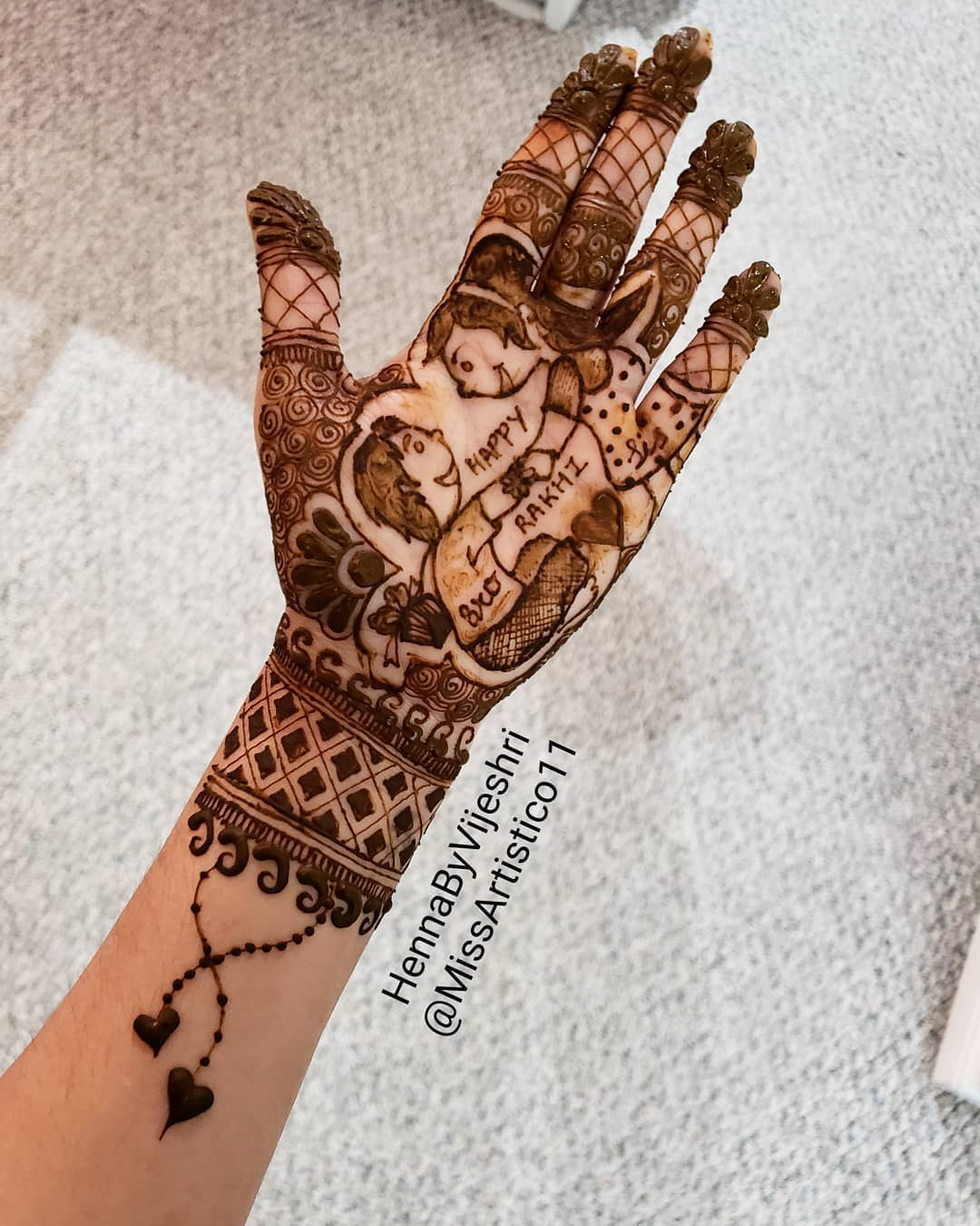 Easy and Simple Latest Mehndi Designs for Raksha Bandhan