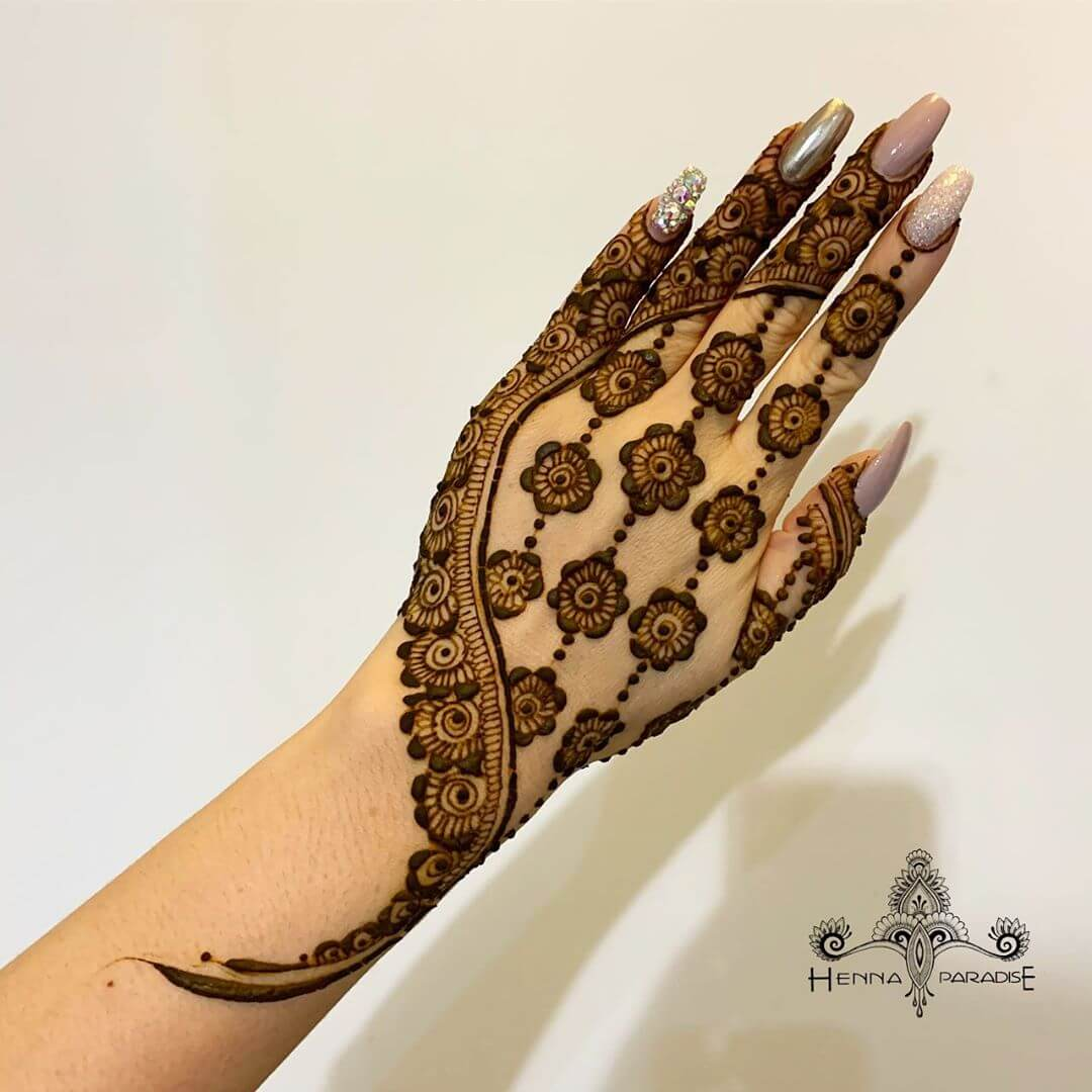 Finger Flash with Flowers Latest Mehndi Designs for Raksha Bandhan