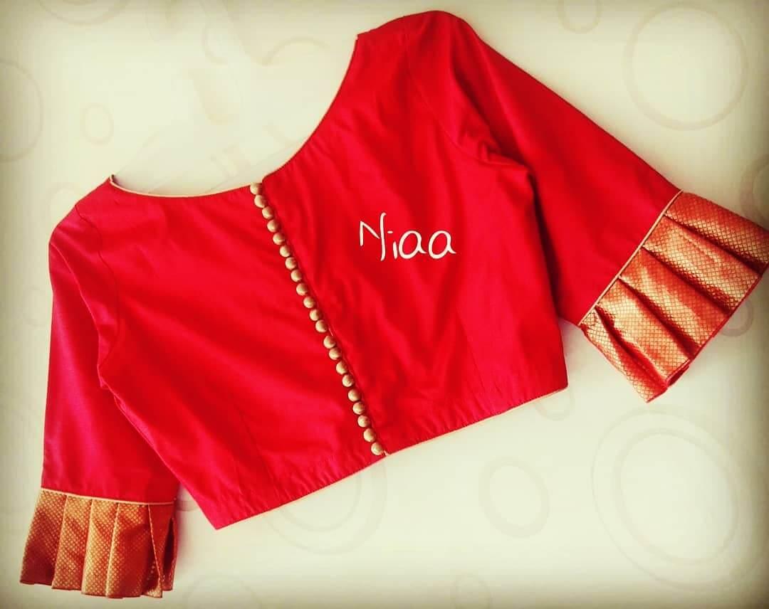 Sharara half sleeves blouse