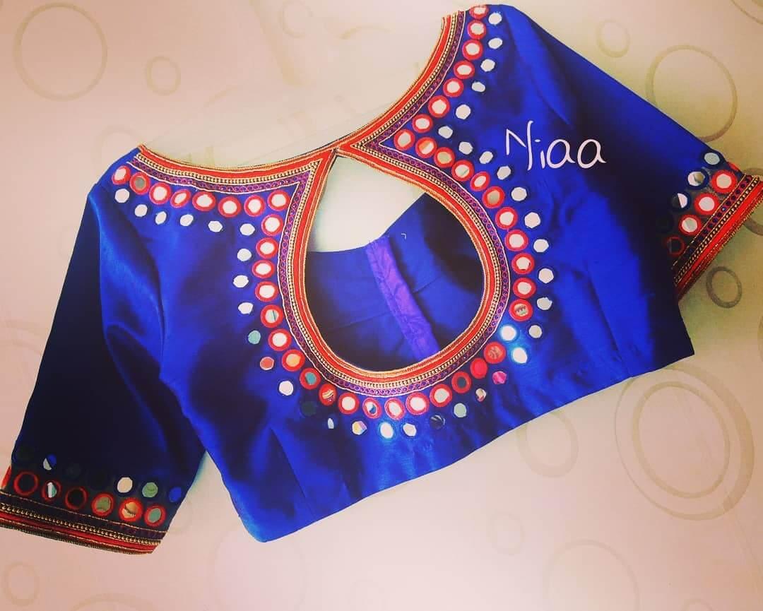 Rajasthani Saree Blouse Back Neck Design