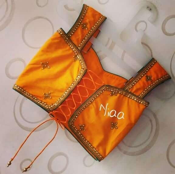 Saree Blouse Back Neck Design