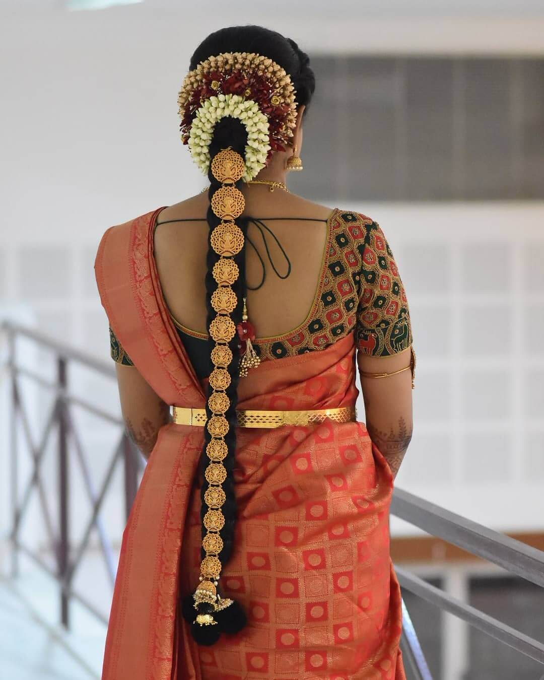 Lotus Gold Jada Traditional South Indian Bridal Hairstyles
