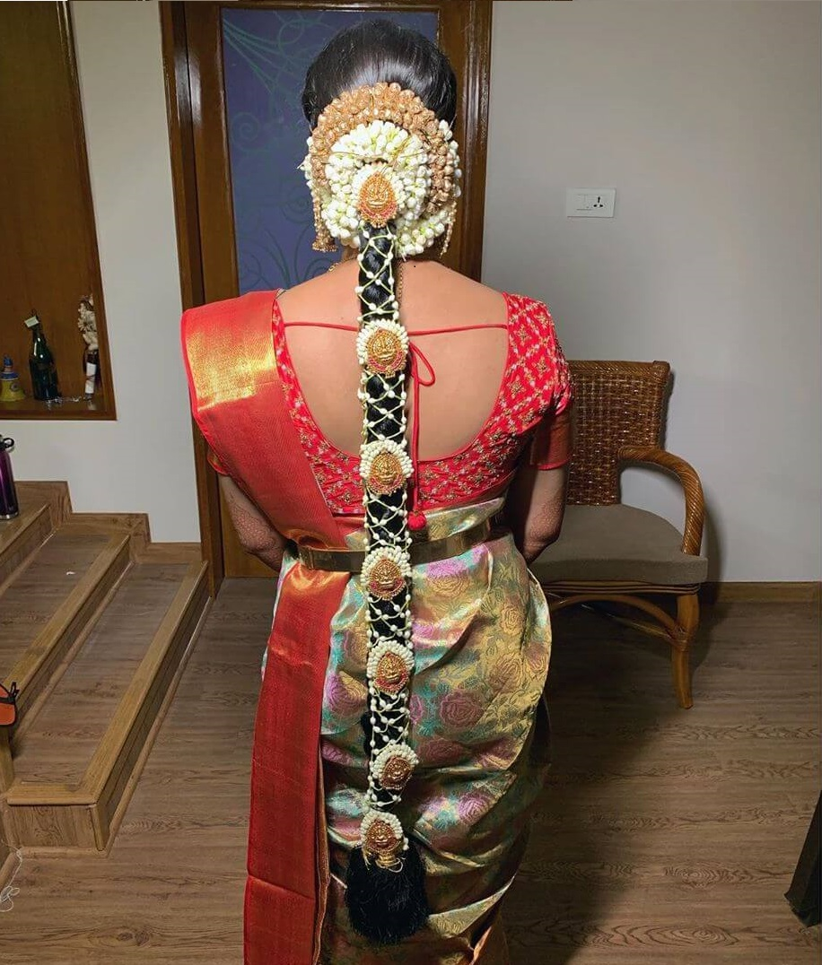 Keep it all Gold Traditional South Indian Bridal Hairstyles