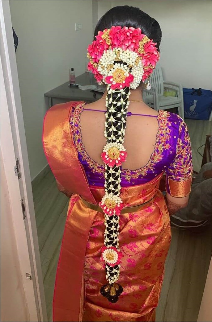 Divine Floral Jada Traditional South Indian Bridal Hairstyles