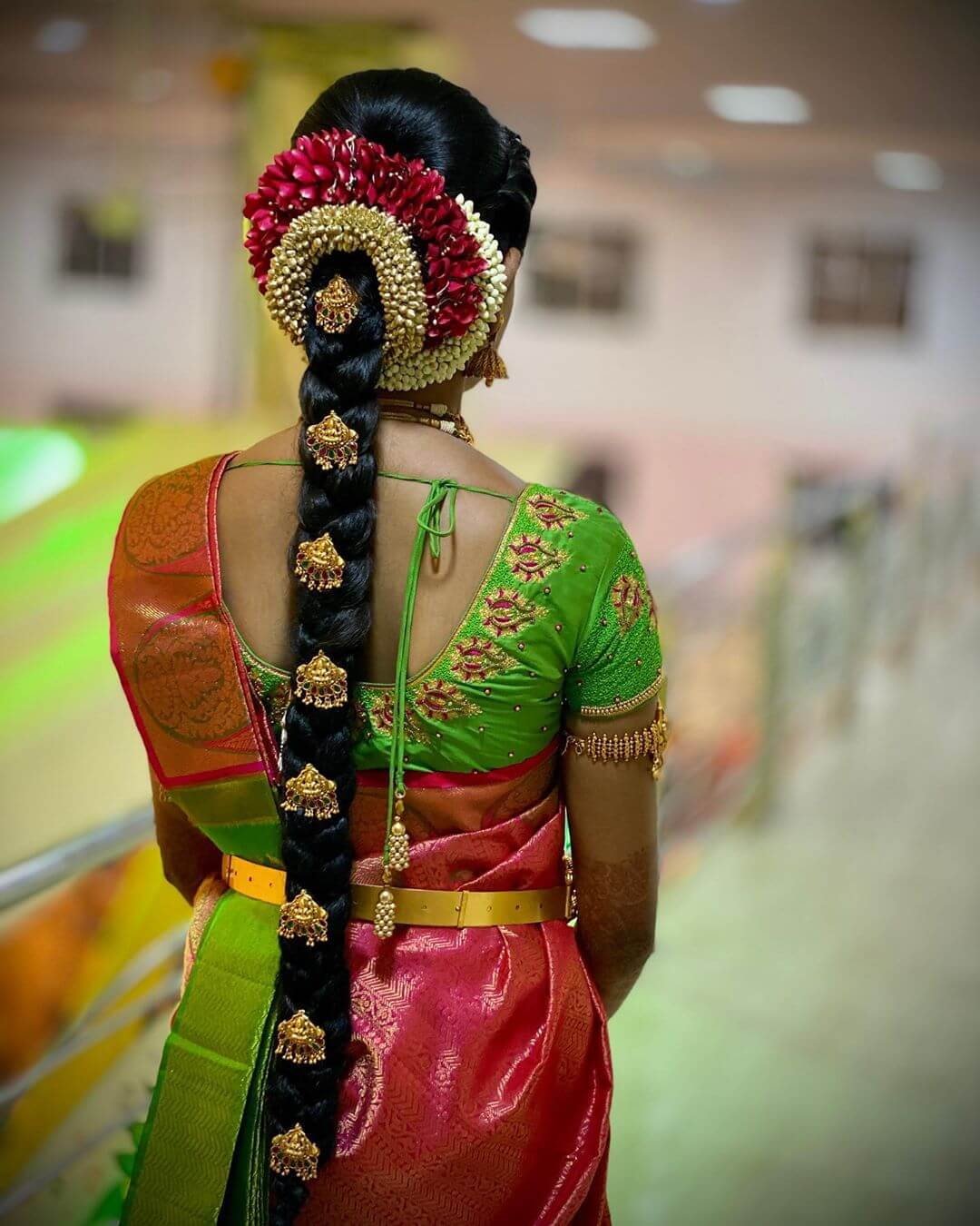 Small Billas Traditional South Indian Bridal Hairstyles