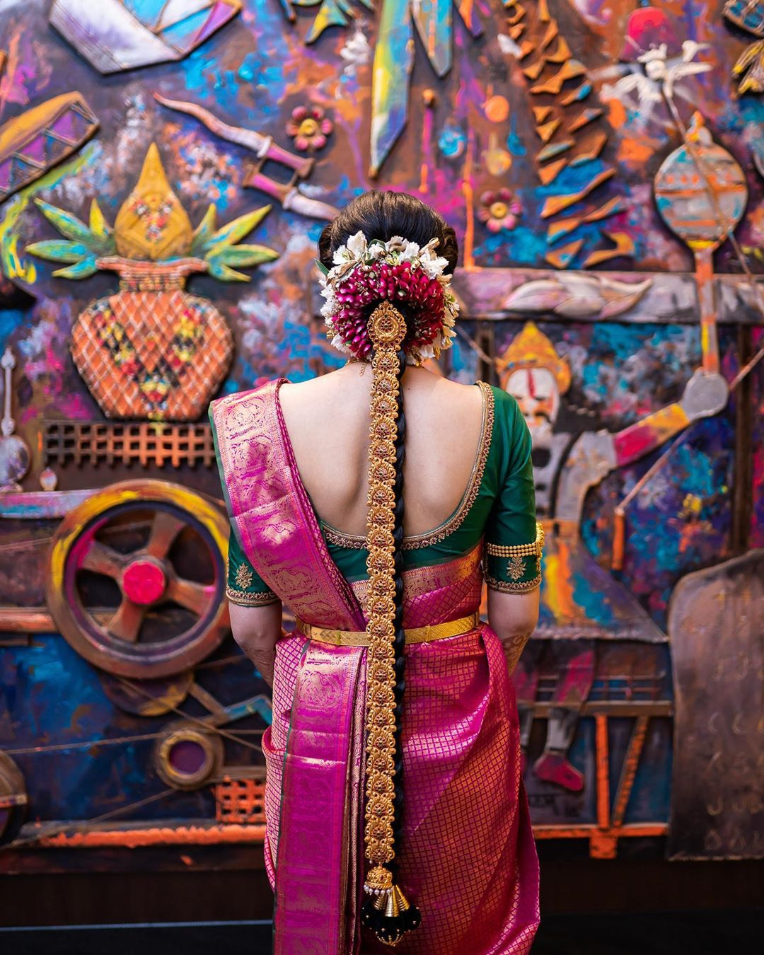 The Longer, The Better Traditional South Indian Bridal Hairstyles