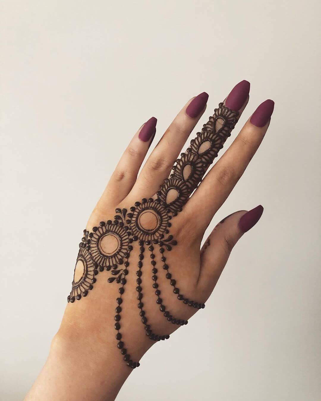 Elegance at its peak Beautiful Jewellery Mehndi Designs for Back Hand