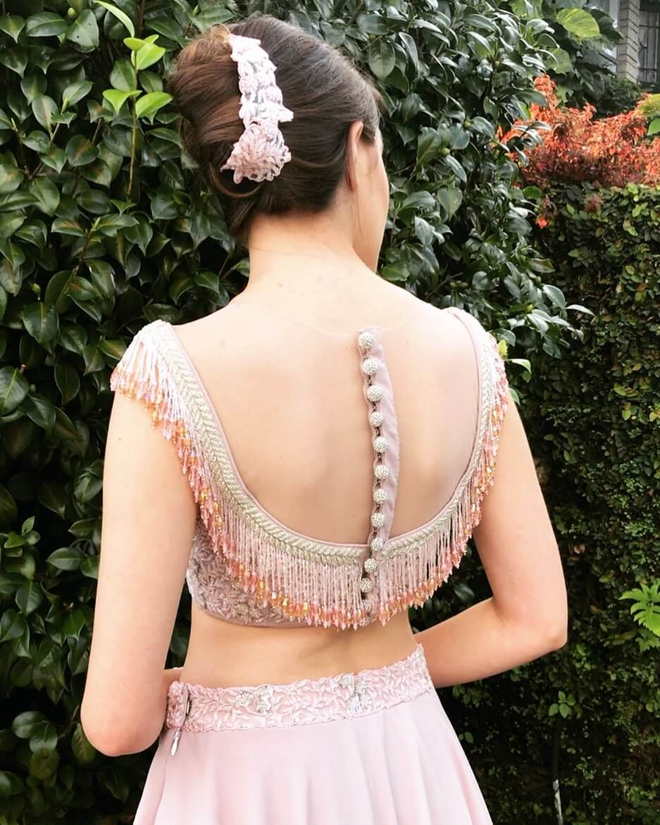 Backless Illusions Bold and Beautiful Blouse Back Design