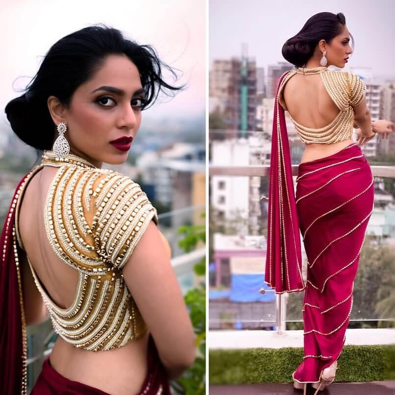 Statement Bold and Beautiful Blouse Back Design