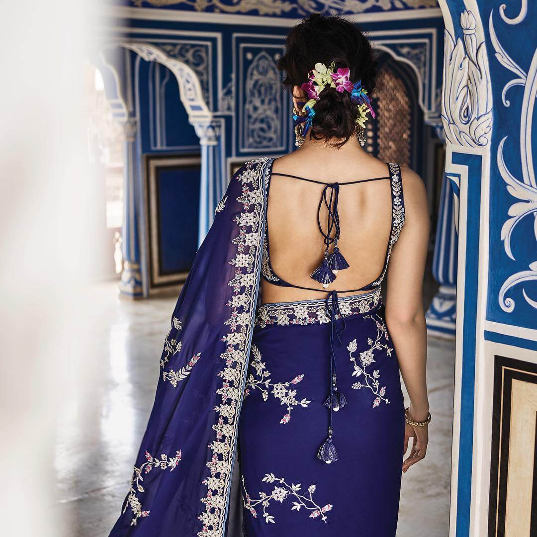 Gota Patti Bold and Beautiful Strap Blouse for Saree