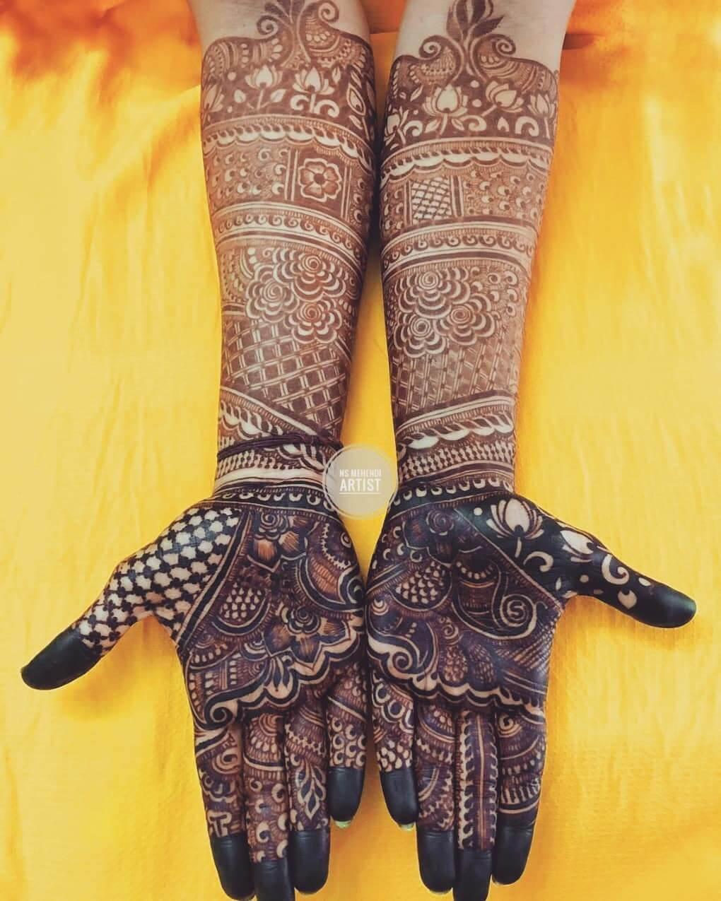 Darker the Better Mehndi Designs For Front Hand